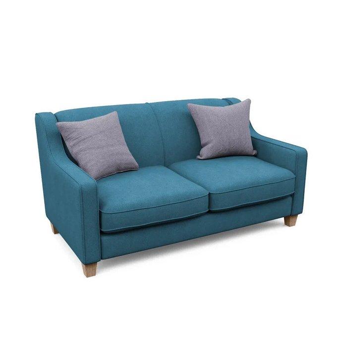 Двухместный диван-кровать Агата M синего цвета
