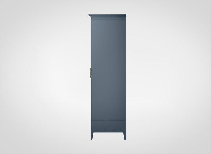 Шкаф для одежды Manhattan серо-синего цвета