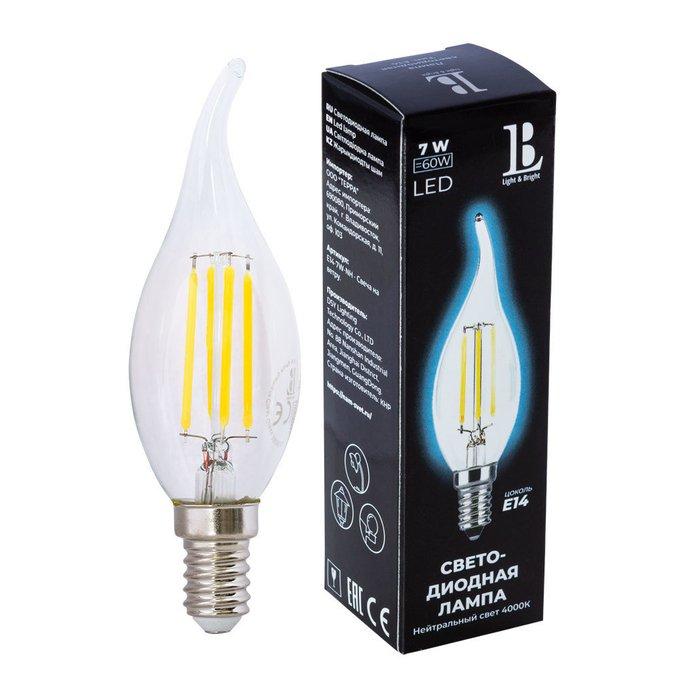 Лампочка Filament Свеча с цоколем E14