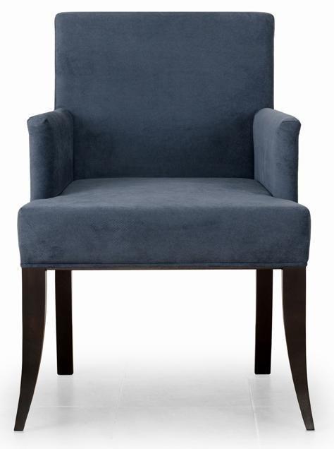 Кресло Ательер (Baker Furniture) дизайн 3 темно-серого цвета