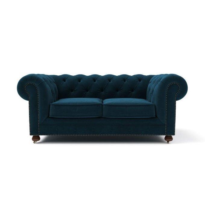Двухместный диван Chesterfield Lux MT синий