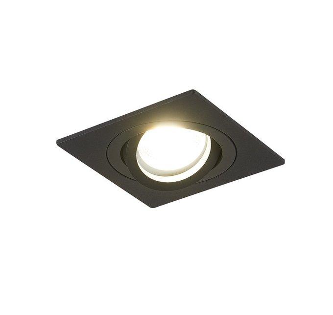 Встроенный поворотный светильник Megeyn черного цвета
