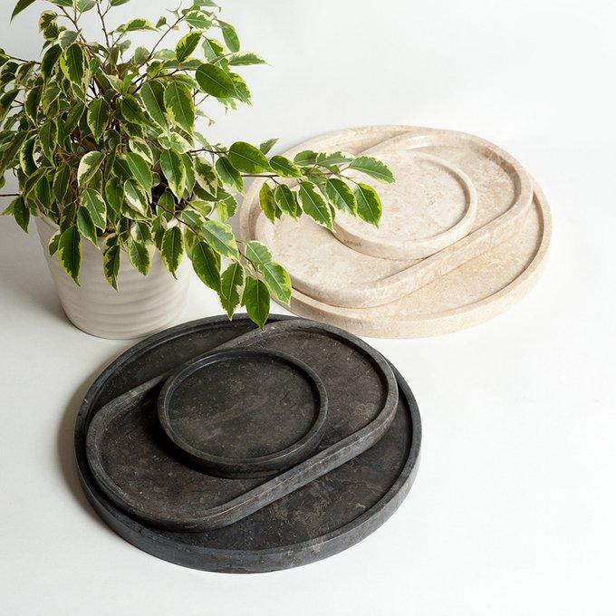 Набор из трех декоративных подносов Black