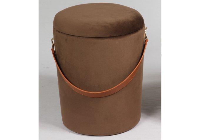 Пуфик Barselona big коричневого цвета