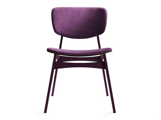 Мягкий стул Sid тёмная берёза / имперский фиолет