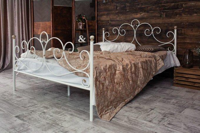 Кованая кровать Флоренция 1.8 с двумя спинками