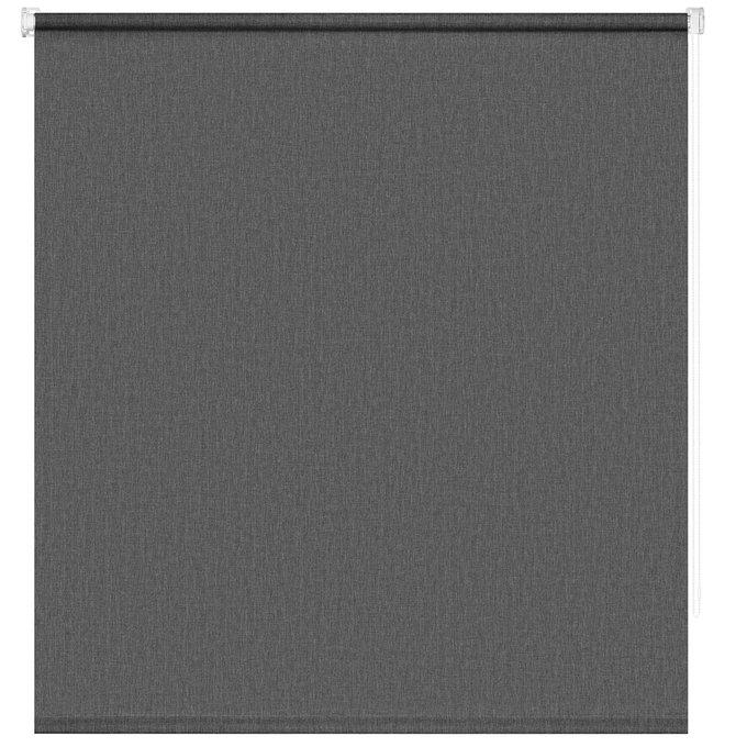 Штора Миниролл Меланж темно-серого цвета 100x160