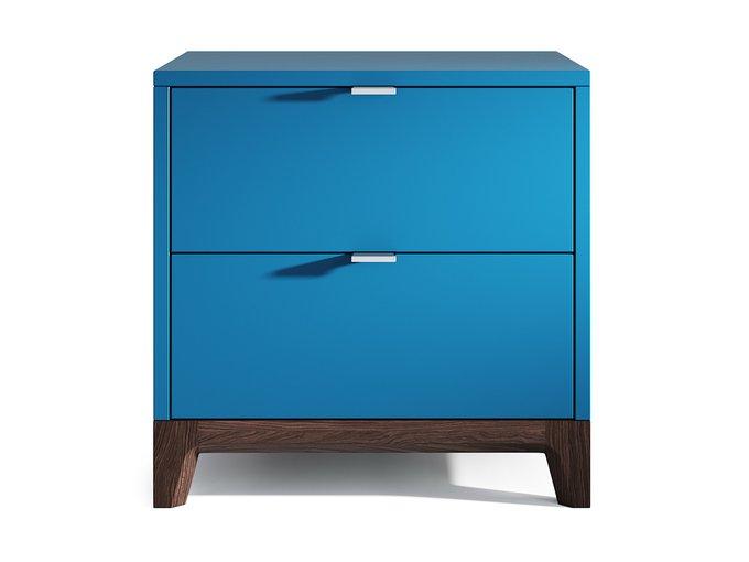 Прикроватная тумба Case синего цвета