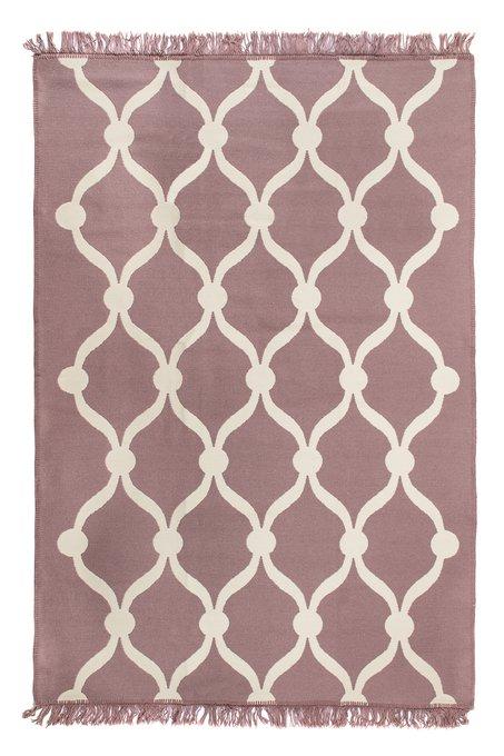 Ковер-килим Dreams цвета пыльной розы 80х200