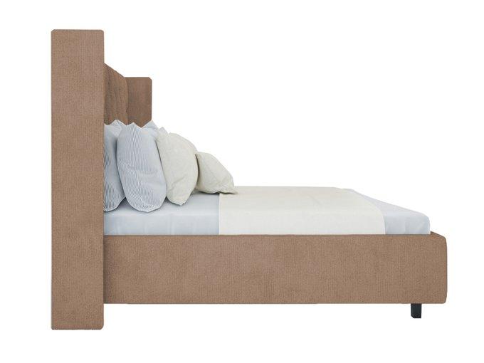Кровать Wing-2 Велюр Серо-коричневый 160x200