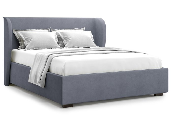 Кровать Tenno 180х200 серого цвета с подъемным механизмом