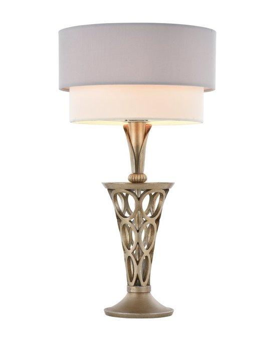 Настольная лампа Lillian с бело-серым абажуром