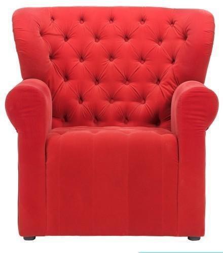 Кресло Daisy красного цвета