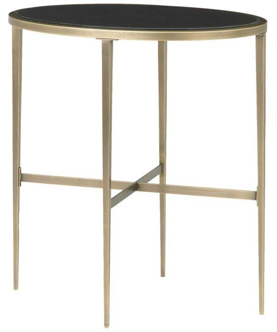 Приставной столик Adare Oval с черной столешицей
