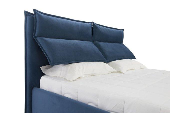 Кровать Wing синего цвета 200х200