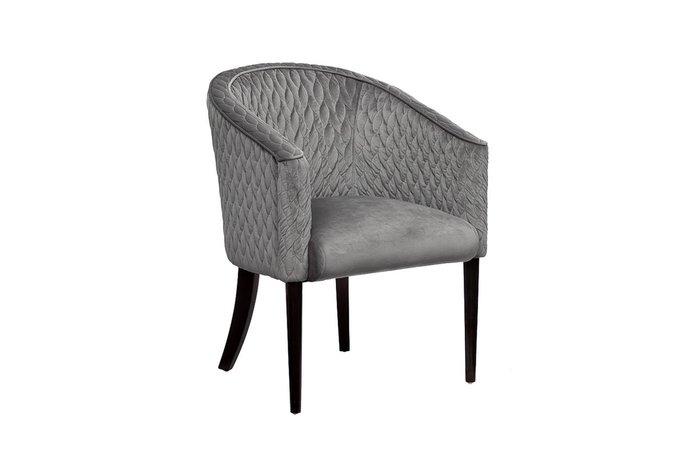 Кресло стёганное серого цвета