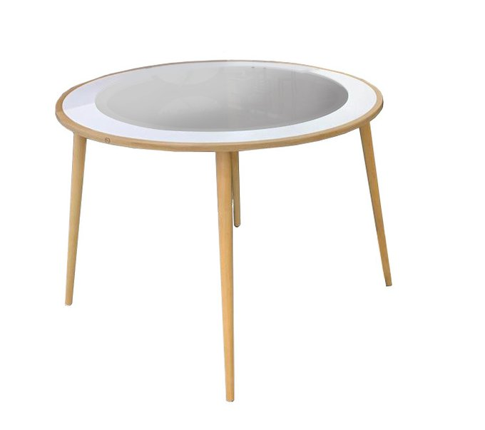 Стол круглый Kat со стеклянной столешницей