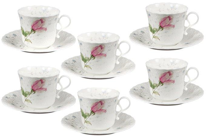 Набор из чашек с блюдцами Апрельская роза