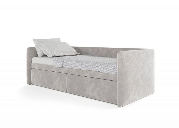 Кровать Принстон 90х200 серого цвета