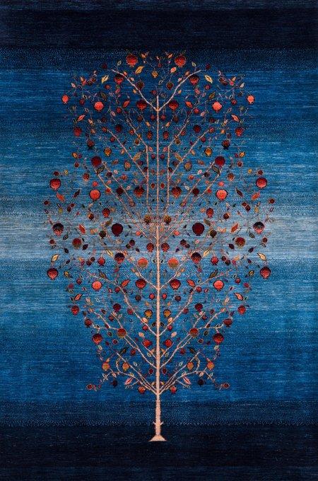 Ковер синего цвета 100x150