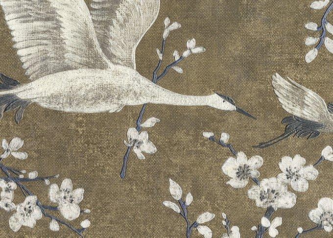 Обои Muralto Oasi Disegno Airone бронзово-серого цвета