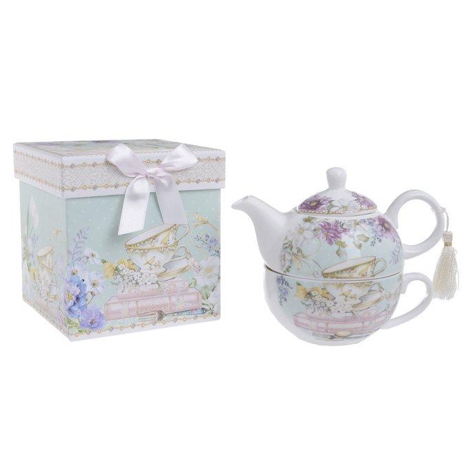 Чайник с чашкой в подарочной упаковке