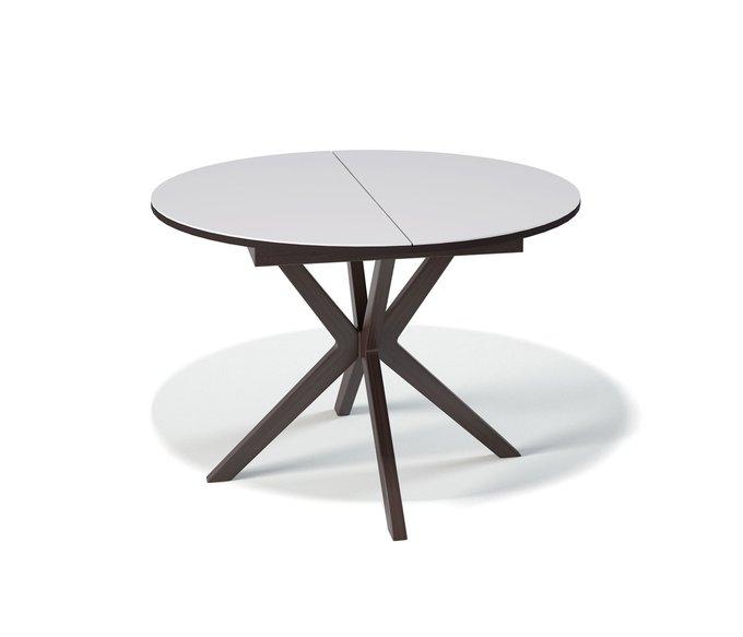 Стол обеденный Corvus раскладной  с белой столешницей