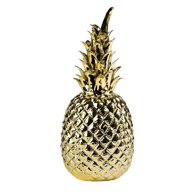 Декор Pineapple gold золотого цвета
