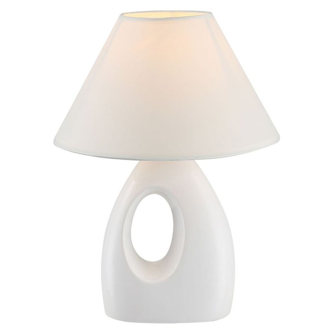 Настольная лампа Globo Sonja с белым абажуром