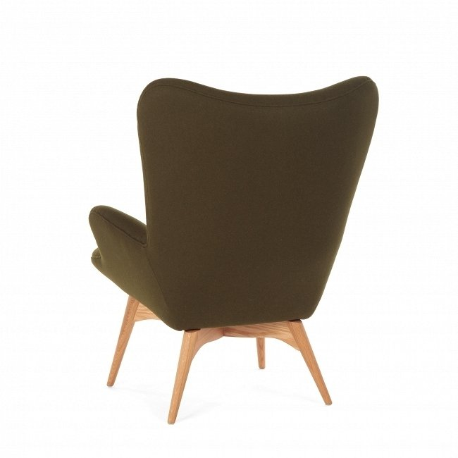 Кресло Contour темно-зеленого цвета
