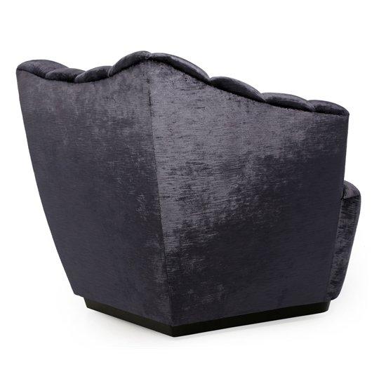 Кресло Sloan черного цвета