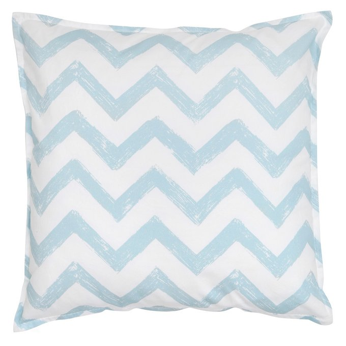 Декоративная подушка Blue Zigzag из хлопка