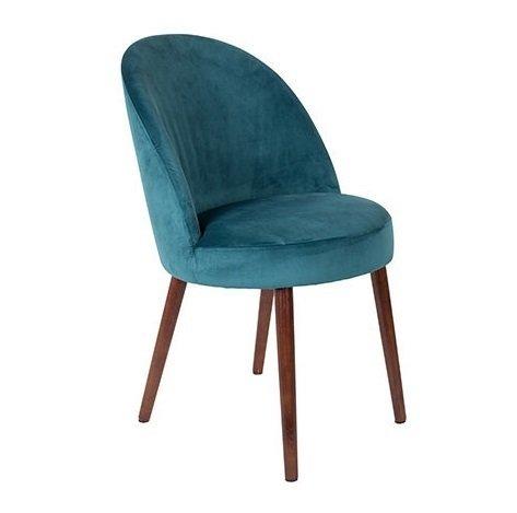 Кресло Barbara Petrol голубого цвета