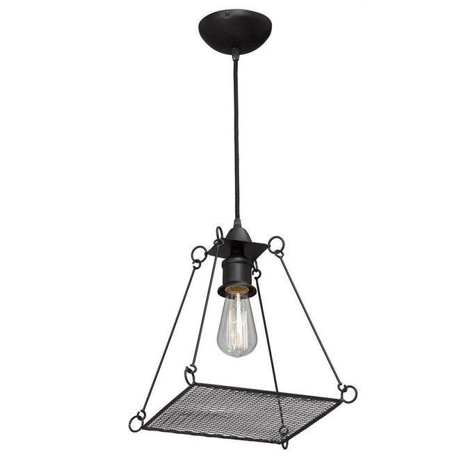 Подвесной светильник из металла черного цвета