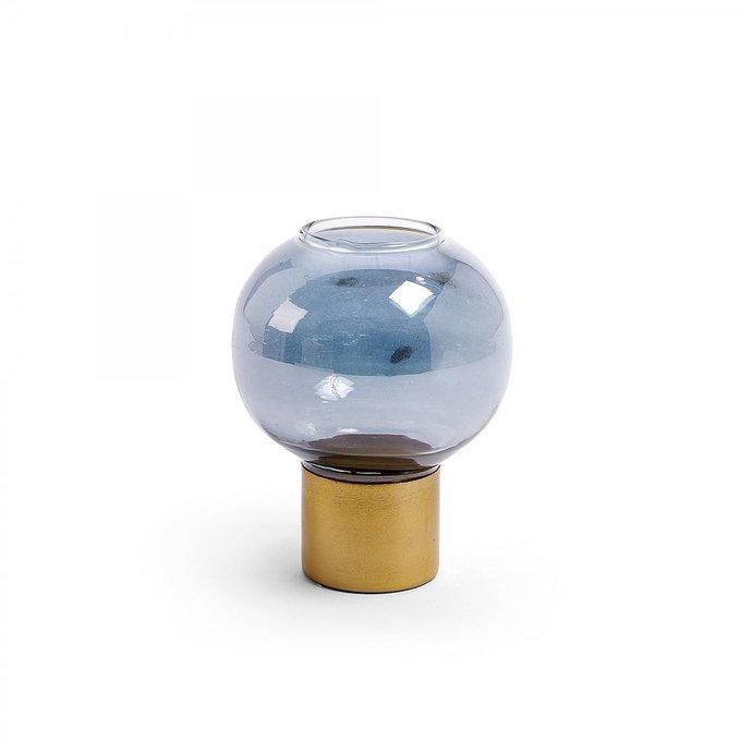 Подсвечник Crayte из голубого стекла