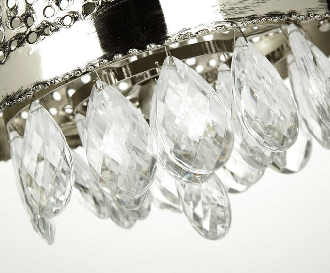 """Потолочный светильник """"HOLES"""" MM Lampadari с подвесками-кулонами из прозрачного хрусталя"""