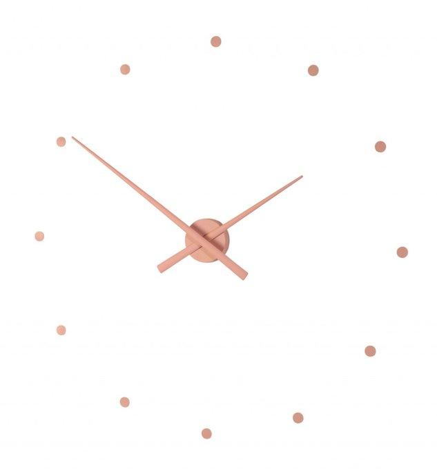 Настенные часы OJ Pink из пластика розового цвета
