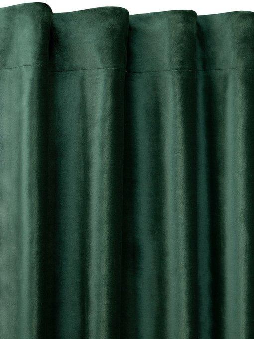 Штора велюр Emerald зеленого цвета