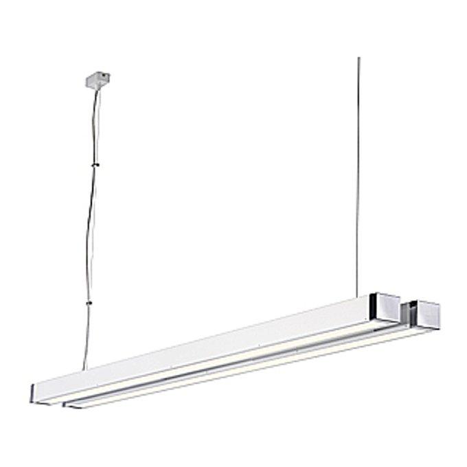 Светильник подвесной с Э-ПРА Q-Line Double белый / хром