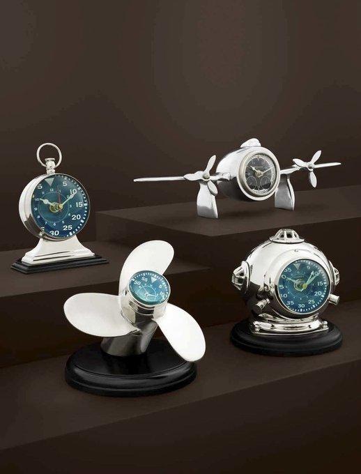 Часы настольные Clock Propellor Hercules Eichholtz