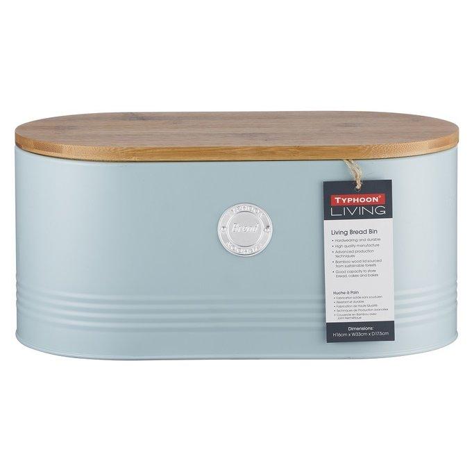 Емкость для хранения хлеба Living голубого цвета