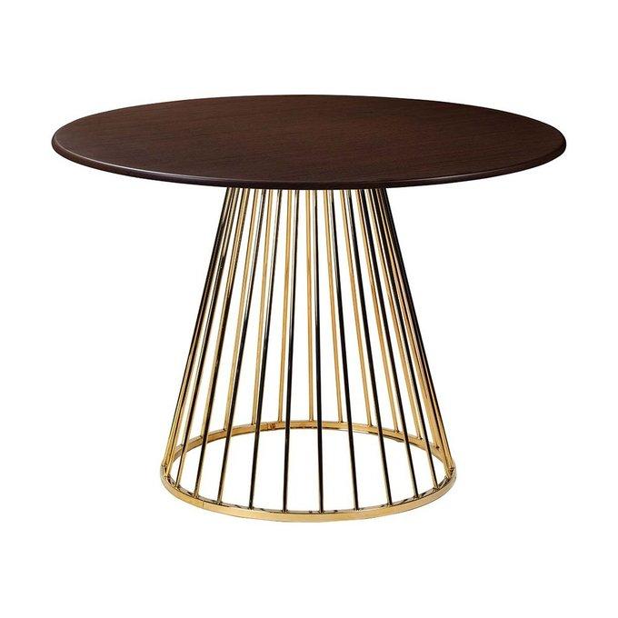 Обеденный стол Twister Gold со столешницей цвета венге