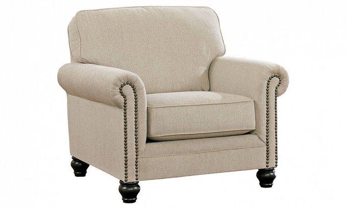 Кресло Toby с обивкой из велюра серого цвета