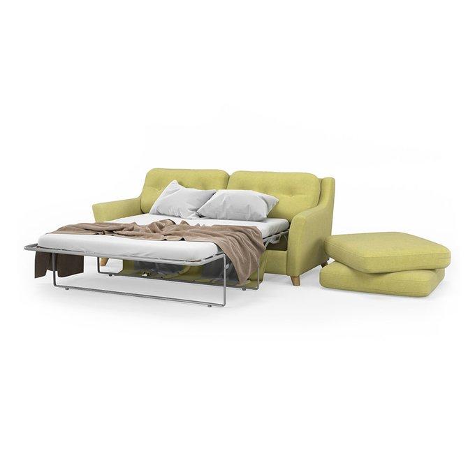 Диван-кровать Raf MT трехместный светло-зеленого цвета