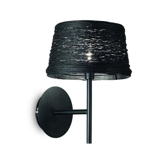 Бра Ideal Lux Basket Nero с черным абажуром