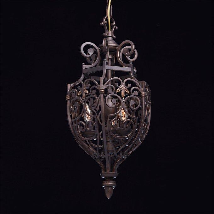 Подвесная люстра Магдалина темно-коричневого цвета