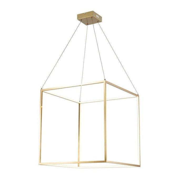 Подвесной светодиодный светильникi Exo Gold золотого цвета