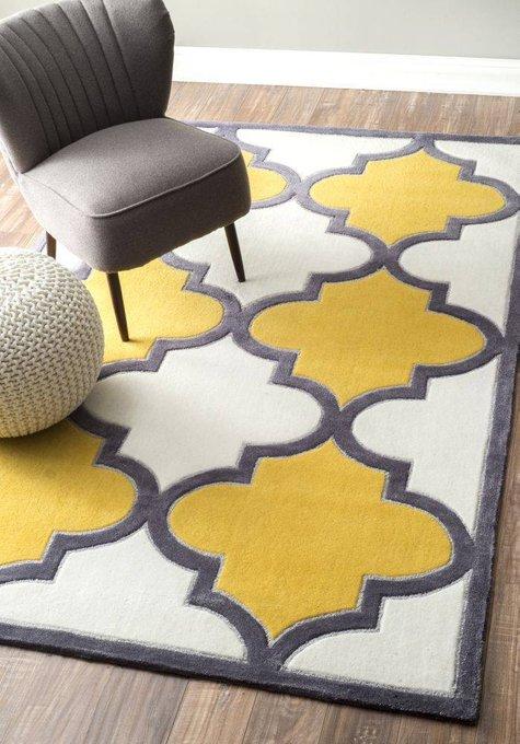 Ковер Marrakech yellow с основанием из хлопка 140х200 см