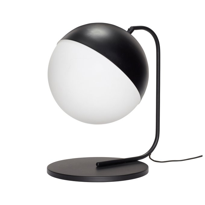 Настольная лампа с круглым плафоном