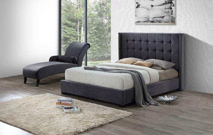 Двухспальная кровать Jasmine серого цвета 180х200